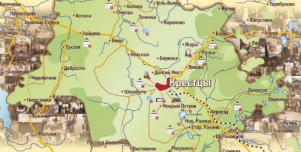 Крестцы на карте