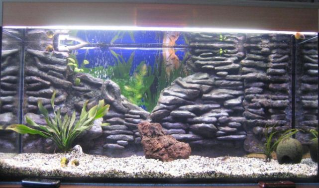 Сложный рельеф в аквариуме