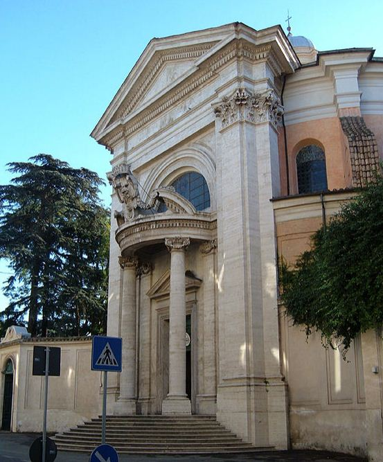 Церковь Сант - Андреа - аль - Квиринале, построенная в Риме ( Италия) в 1658 - 1660 годах по проекту Дж. Лоренцо Бернини.