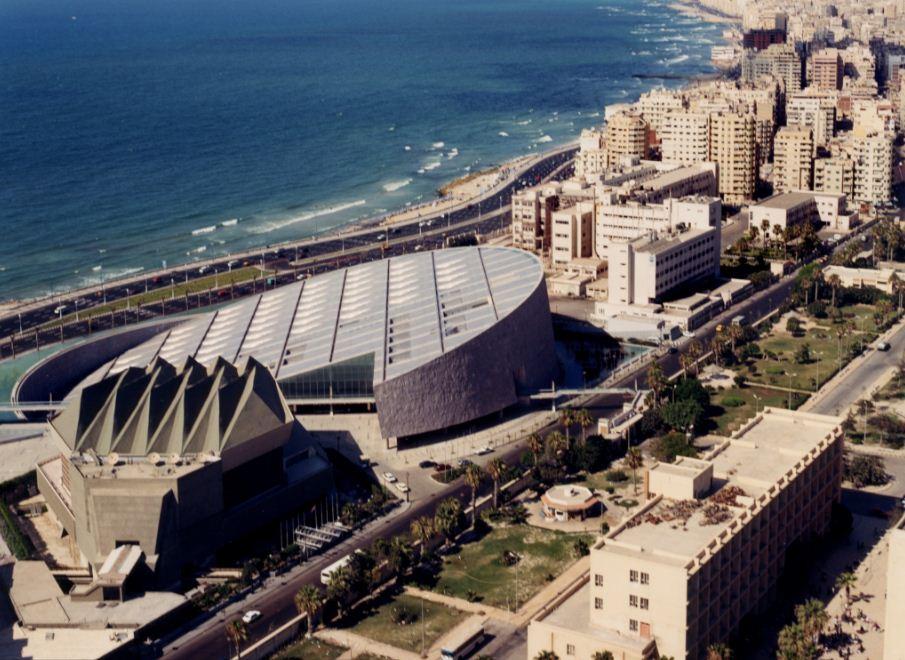 Новая Александрийская библиотека в Египте - проект бюро Snehetta ( 1989 год).