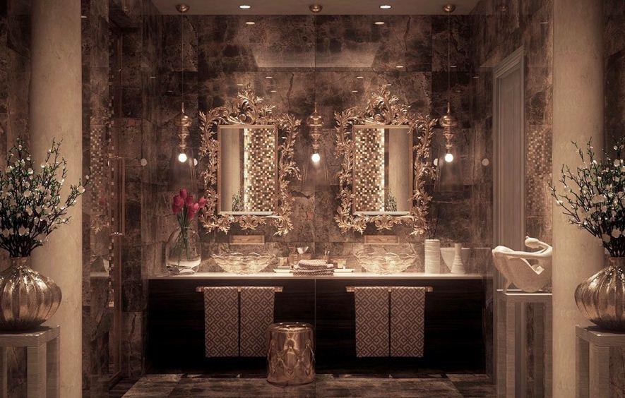 Величественный интерьер ванной комнаты