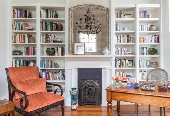 Стильные полки для книг