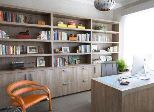 Домашняя библиотека в офисном стиле