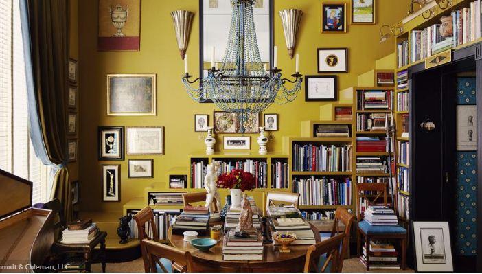 Дизайн интерьера роскошной домашней библиотеки