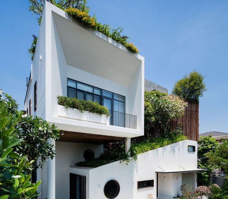 Строгая геометрия архитектурных форм виллы