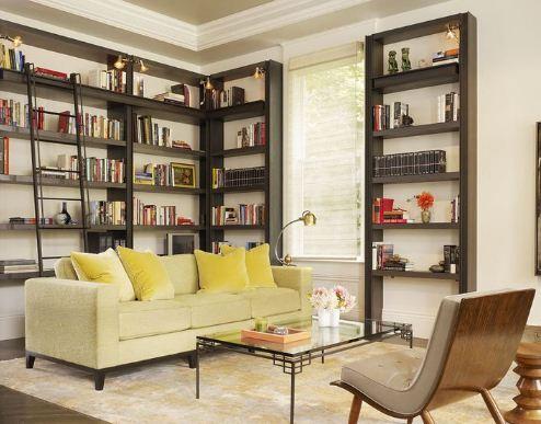 Домашняя библиотека в современном стиле