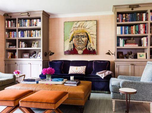 Смешение стилей в дизайне библиотеки делает ее уютной и необычной