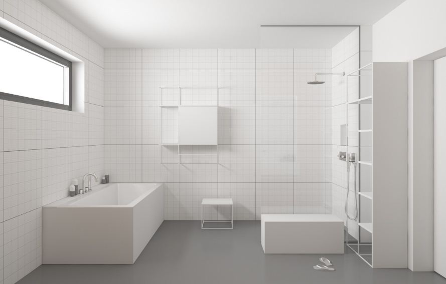 Интерьер ванной в стилистике минимализма