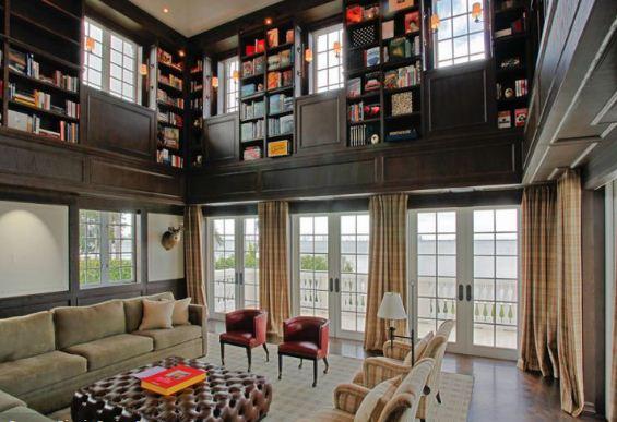 Оригинальные встроенные шкафы для книг