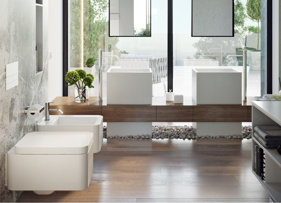 Вместительные столешницы в ванной