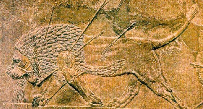 Барельефы Месопотамии