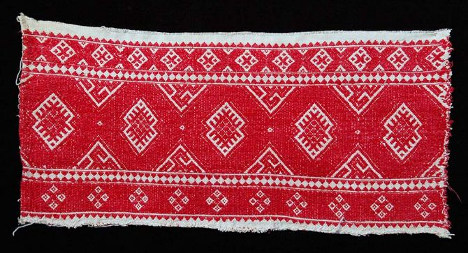 Образец узорного ткачества