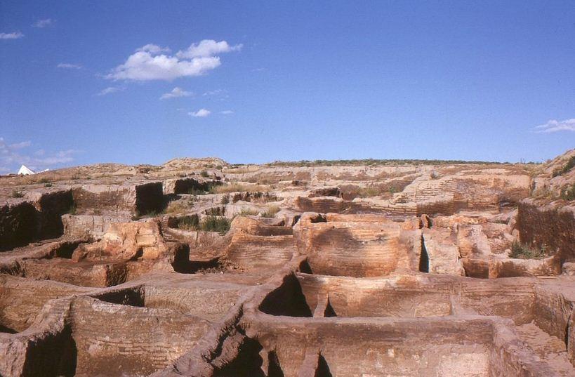 Вид Чатал - Хююка после раскопок