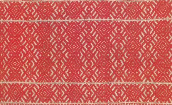 Элемент полотенца, выполненного в технике узорного ткачества ( начало XX века).
