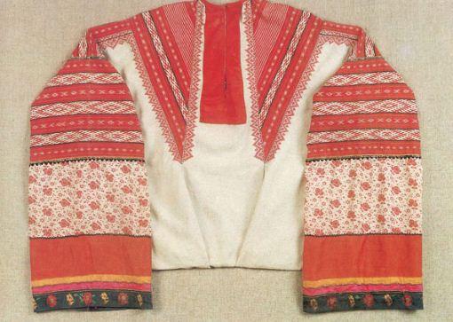 Женская рубаха - ручное узорное ткачество, конец XIX века.