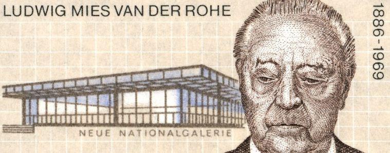 Людвиг Мис ван дер Роэ ( 1886 - 1969 годы жизни) - немецкий архитектор - модернист, представитель интернационального стиля