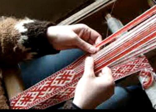 Изготовление тесьмы в технике узорного ткачества