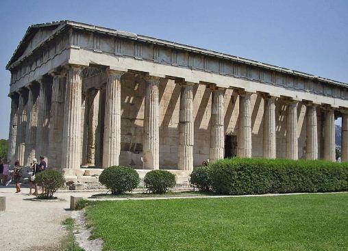 Дорический ордер храма Гефеста ( V век до нашей эры).
