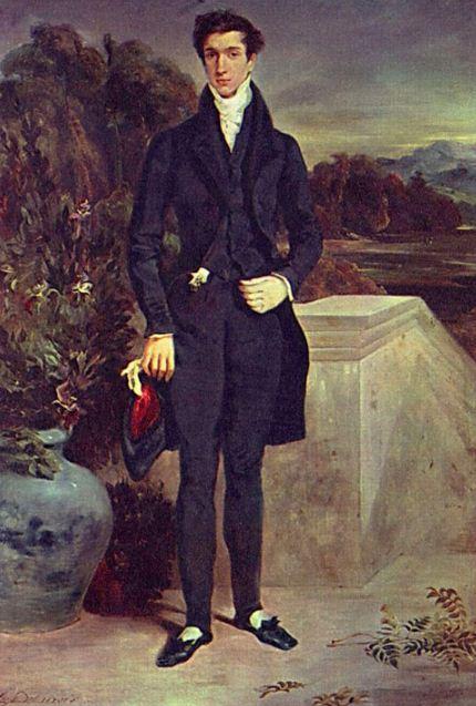 Эжен Делакруа. Портрет барона Швитера ( 1827 год).