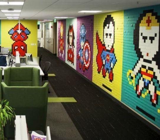 Пиксельная графика в дизайне интернет - кафе