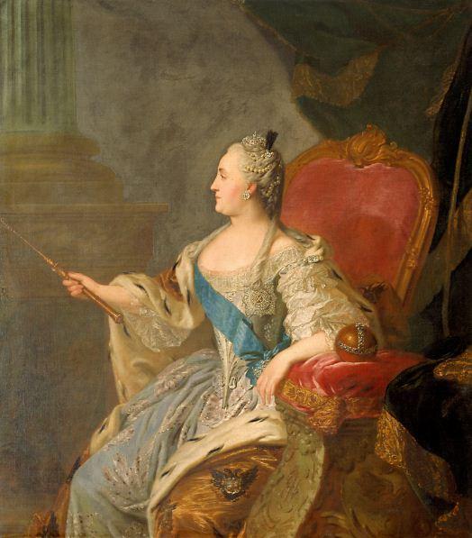 """Рокотов Ф. С. """" Коронационный портрет Екатерины II"""" ( 1763 год)."""