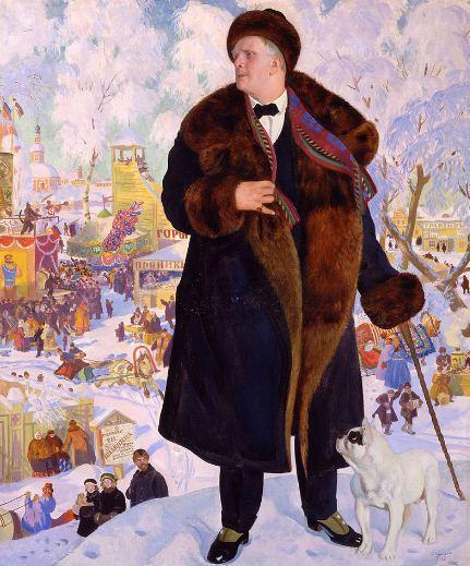 Борис Кустодиев. Картина - портрет Ф. И. Шаляпина ( 1922 год). Холст, масло.