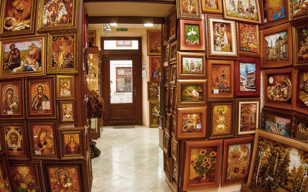 Картины из иконы из янтаря