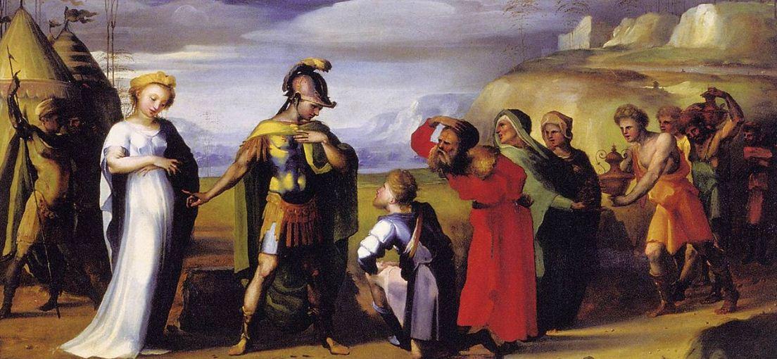 """Доменико Беккафуми """" Воздержание Сцилиона Африканского"""" ( около 1525 года)."""