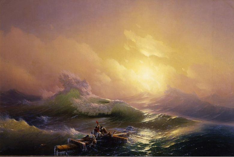 """И. К. Айвазовский """" Девятый вал"""" ( 1850 год)."""