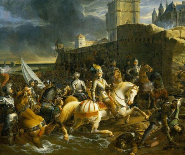 """Франсуа Эдуар Пико """" Осада Кале"""" ( 1838 год)."""