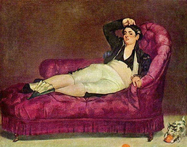 """Эдуард Мане """" Девушка в испанском костюме"""" ( 1862 - 1863 годы)."""