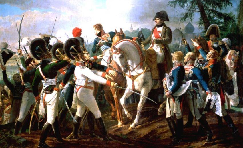 """Жан - Батист Дебре """" Наполеон выступает перед баварскими войсками в Абенсберге 20 апреля 1809 года."""