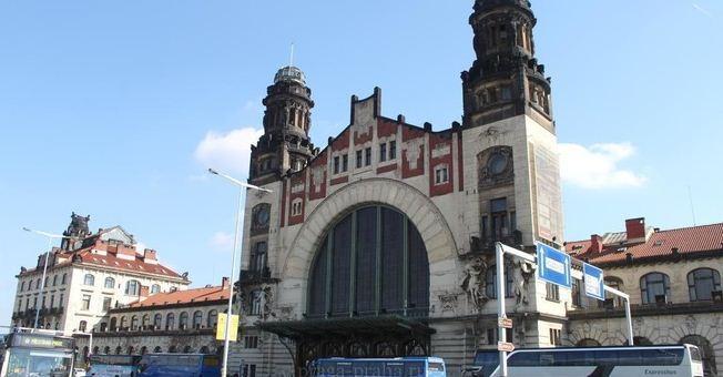 Здание главного железнодорожного вокзала в Праге