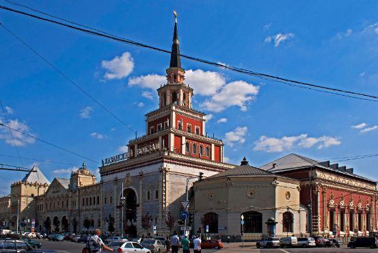 Здание Казанского железнодорожного вокзала в Москве