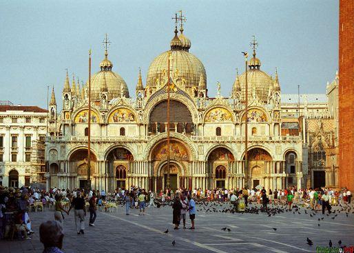 Площадь и собор Сан - Марко в Венеции