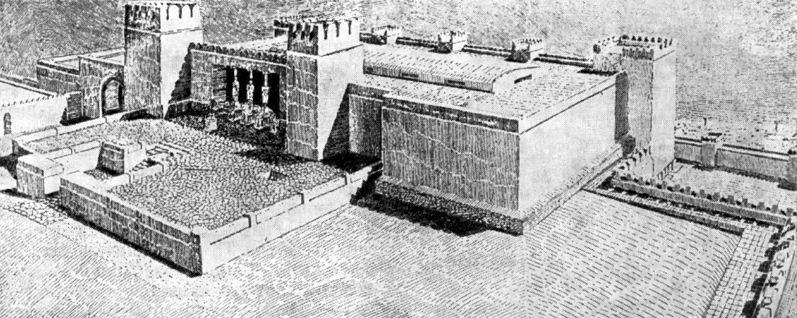 Фасад дворца и план бит - хилани
