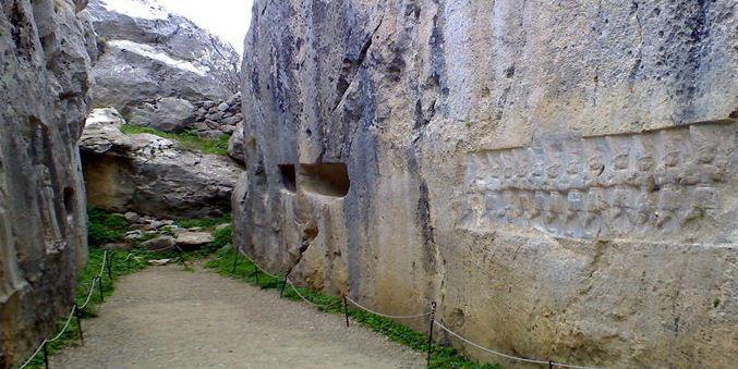 Скальное святилище Язылыкайя в Хаттусе.