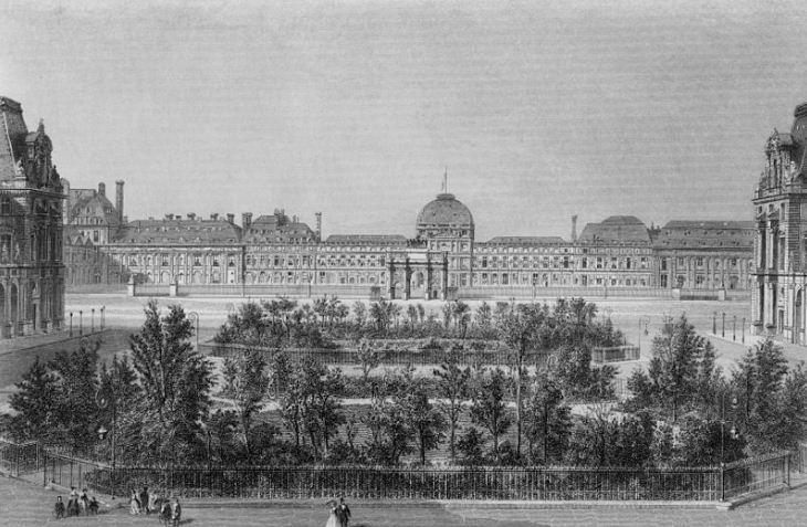Дворец Тюильри в середине XIX века