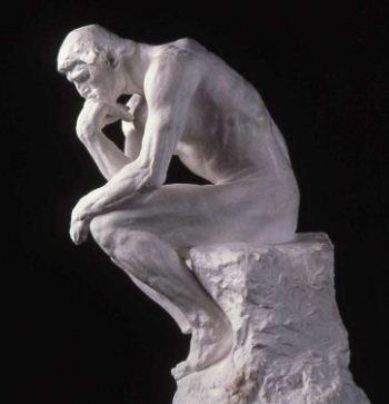 """"""" Мыслитель"""" Родена - образец станковой скульптуры."""