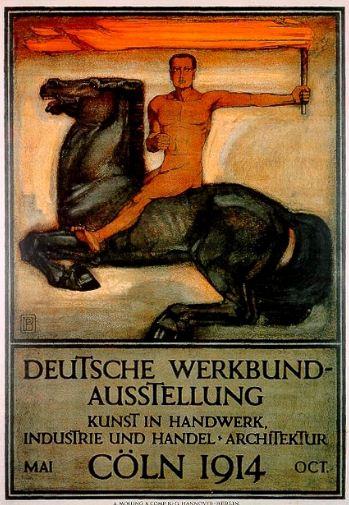 Плакат выставки Немецкий Веркбунд в Кёльне ( 1914 год).