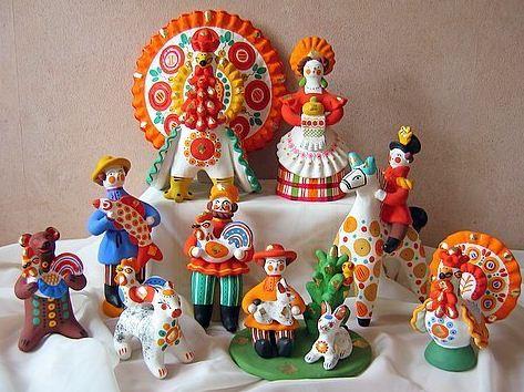 Образцы дымковских игрушек