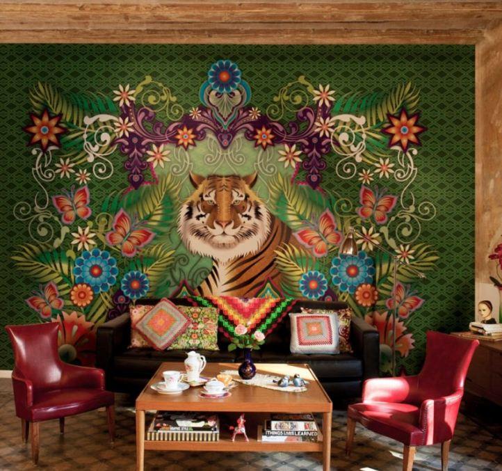 Экзотические фрески в дизайне интерьера.