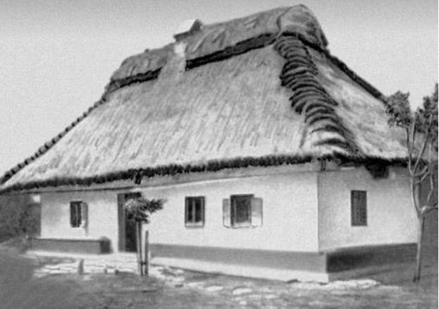 Украинская хата в Подольской губернии ( начало XX века).