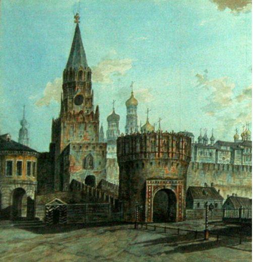 Кутафья башня Московского Кремля - пример барбакана в русской архитектуре.