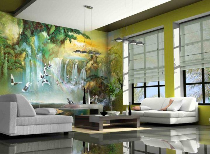 Картины природы на фресках.