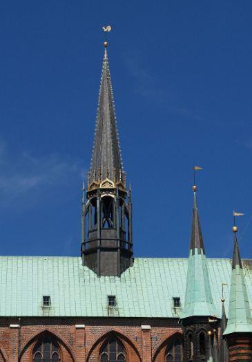 Шпиль башни в городе Любеке
