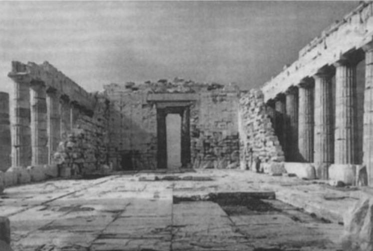 Парфенон. Целла храма.