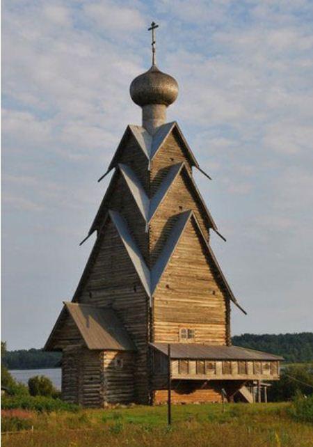 Ярусная конструкция церкви Иоанна Предтечи ( Ширков погост, 1694 год).