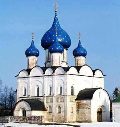 Богородице - Рождественский собор, построенный в XI веке ( Суздаль).