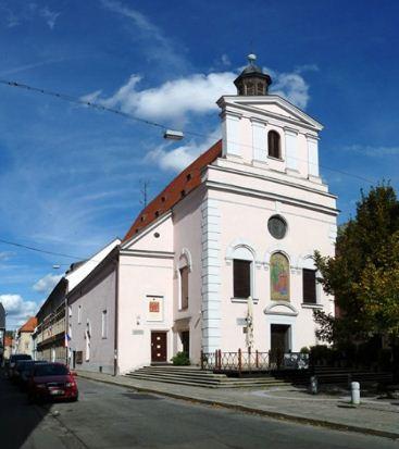 Монастырь капуцинов и храм Святой Анны в Ческе - Будейовице.